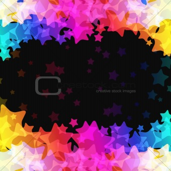 Abstract vector background with stars