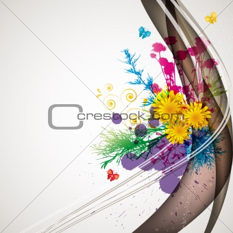 abstract flora background 1