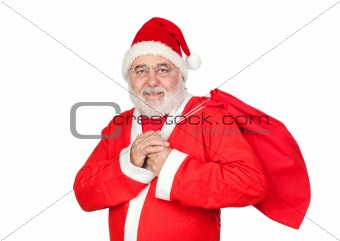 Santa Claus with a full sack