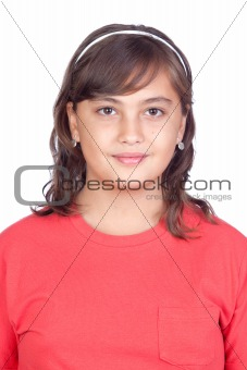 Adorable preteen girl
