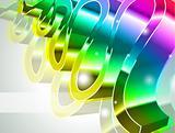 High Tech Rainbow Business Card