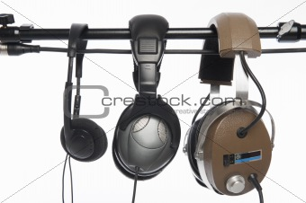 Three headphones