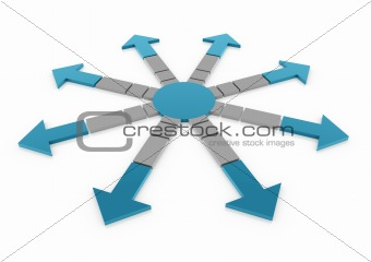 3d blue gray arrow circle