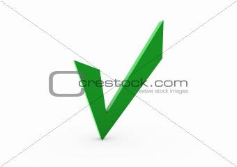 3d green check