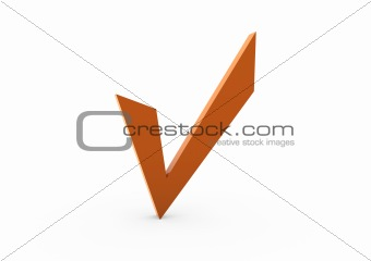 3d check orange