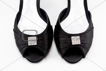 Black women shoe isolated on white background