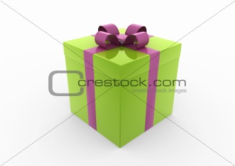 3d green pink gift box