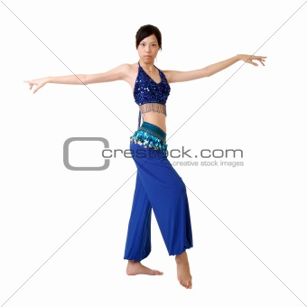Attractive oriental dancer