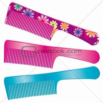 A set of three combs