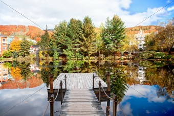 Fall Season in Mont-Tremblant, Quebec, Canada