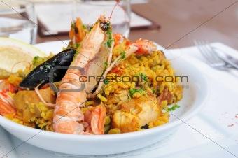prawn with rice