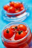 Cocktail tomatoes in jar