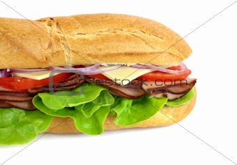 Ham And Salad Sub