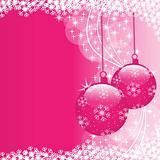 Xmas balls pink