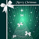 Christmas tree and ribbons