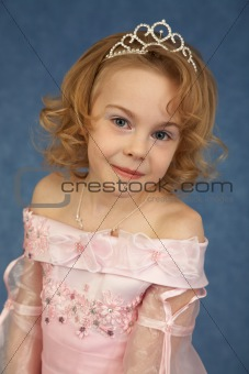 Portrait of girl in pink dress