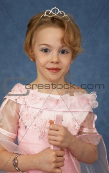 Portrait of girl - teenager in beautiful dress