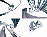 Abstract forms in motion