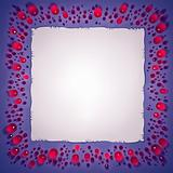 Jewels and paper sheet frame