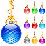 Christmas colourful balloons