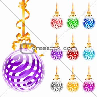 Christmas colourful balloons