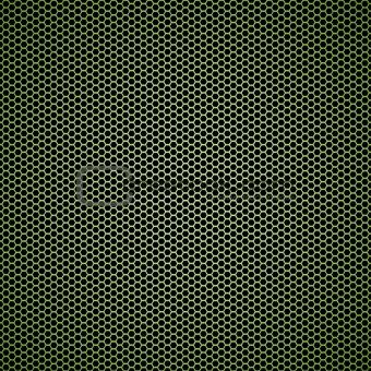 Green hexagon metal background