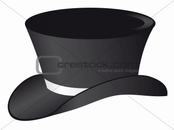 Black hat with a white ribbon