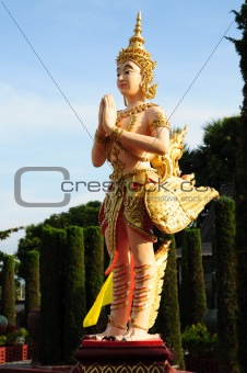 Kinnaree - Thai Creature, bird with human head