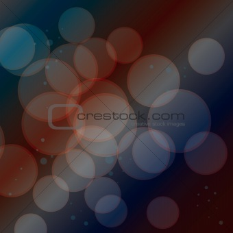 Abstract background from transparent circles