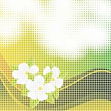 Abstract mosaic background with flowers