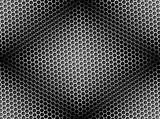 Honeycomb Background Seamless BW