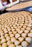 Trays of Baklava Pastries on Display In An Arabic Restaurant