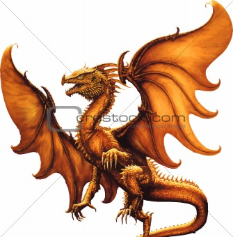 Flying dragon.Vector illustration