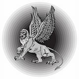 The big mythological griffin.Vector illustration