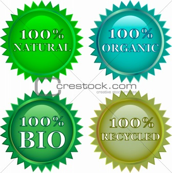 green eco friendly  labels