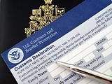 passport on U.S. customs and border form