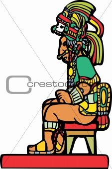 Sitting Mayan Lord