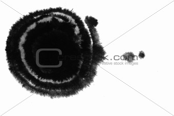 circle inkblot, circle inkblot