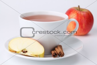 Apple tea with cinnamon