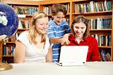 Library Kids on Netbook Computer