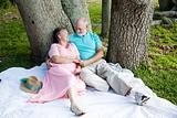Senior Couple - Romance Under Trees