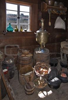Old russian dishware