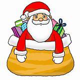 Santa in gift bag