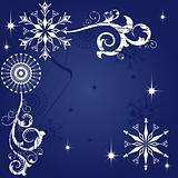 Christmas dark blue background