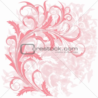 Background  with  pink  branch