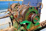 capstan winch of trawlerfishing boa