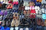 used shoes market pattern rows second hand