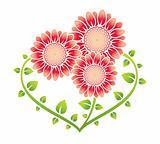 Heart shaped flowers family