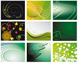 A set of abstract backgrounds for design