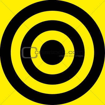 Aim from yellow and black lines